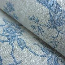 Loire Blue Linen Fabric.