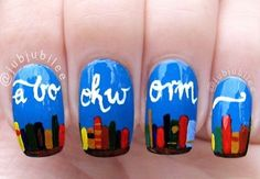Bookworm nail art. I absolutely love these!