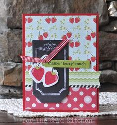 Thanks berry much card by Amy Sheffer for the Card Kitchen Kit Club using the July 2014 kit