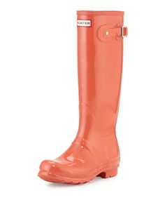Original+Tall+Gloss+Rain+Boot,+Sunset+by+Hunter+Boot+at+Neiman+Marcus.