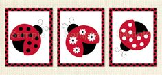 Red Ladybug PRINTABLE Nursery Wall Art by LittlePrintsParties, $8.00