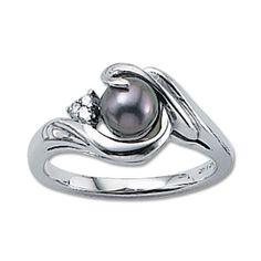 Carla Black Pearl Ring