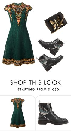 """Untitled #904"" by crazybookladysuzejn ❤ liked on Polyvore featuring Valentino, Fendi and Gucci"