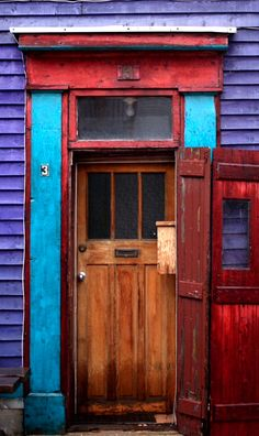 St. John's, Newfoundland, Canada Newfoundland And Labrador, Newfoundland Canada, East Coast Canada, Awesome Definition, Saltbox Houses, Door Entryway, Atlantic Canada, Unique Doors, Doorway