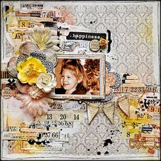 Kelly Foster: All The Pretty Things: Happiness Is Free Scrapbook Pages, Scrapbooking Ideas, Scrapbook Layouts, Teresa Collins, Happy Sunday, The Fosters, Unicorn, Arts And Crafts, Crafty
