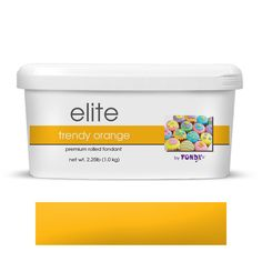 Elite by Fondx Rolled Fondant Icing - Trendy Orange.  The best fondant icing to work with for covering cake and cake decorating.  |  www.CaljavaOnline.com  #caljava #fondx #fondant