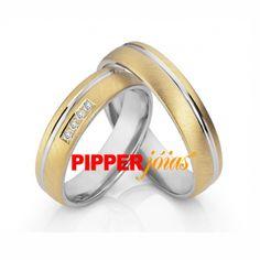 Alianças de Casamento em Ouro 18k e Prata - ALM509 Wedding Rings, Engagement Rings, Weddings, Jewelry, Silver Bands, Wedding Bands, Silver Anniversary, White Gold, Engagement