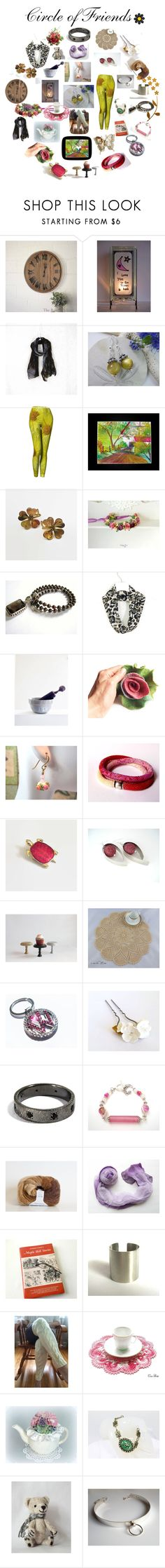 """Circle of Friends"" by therusticpelican ❤ liked on Polyvore featuring CAVO, modern, contemporary, rustic and vintage"