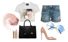 """Outfit 2"" by christian-bodwin on Polyvore featuring Current/Elliott, Christian Louboutin, MICHAEL Michael Kors, Charlotte Tilbury and NARS Cosmetics"