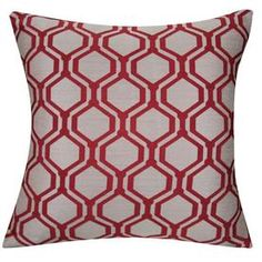allen   roth�18-in W x 18-in L Red Square Decorative Pillow Cover lowes