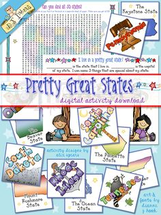 United States activity download with clip art created by DJ Inkers
