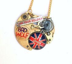 "Doctor Who Necklace ""The Bad Wolf"""