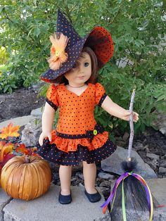 Bewitched is a handmade doll outfit to fit an 18 inch doll