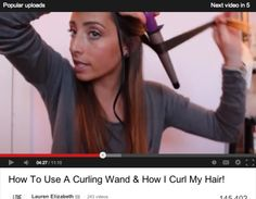 How to Curl Your Hair: 10 Best YouTube Tutorials | Beauty High how to use a curling wand and how i curl my hair