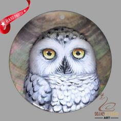 JEWELRY NECKLACE HAND PAINTED  OWL BIRD SHELL PENDANT ZP3000281 #ZL #Pendant