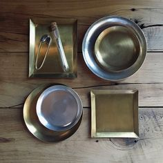 Brass and silver-plated tool trays | Fringe Supply Co.
