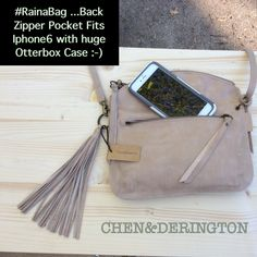#RainaBag by Chen&Derington ..Leather Handbags ...Fits #Iphone6 with huge #Otterbox Case   #IphoneBag  ... Showing Chicago Stylemax August 2015