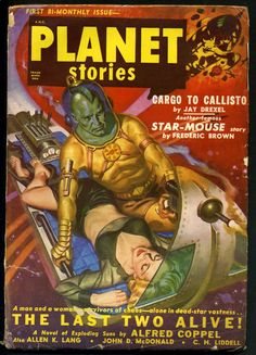 Planet Stories, Nov. 1950 - cover by Allan Anderson