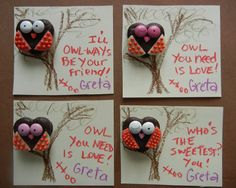 night owl themed birthday party | Sugar Swings! Serve Some: owl valentines....!