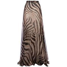 GIAMBATTISTA VALLI animal print maxi skirt ($2,550) ❤ liked on Polyvore featuring skirts, saias, bottoms, faldas, long skirts, print skirt, animal print maxi skirt, brown maxi skirt, ankle length skirt and animal print skirt