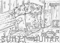 SUMIT ART WORK: SKETCHING / INKING / COLORING
