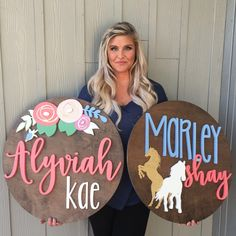 Find a Name for your Baby! - Kinsley Baby Name - Ideas of Kinsley Baby Name - Find a Name for your Baby! Kinsley Baby Name Ideas of Kinsley Baby Name 34 Diameter JUMBO Floral Sign Unusual Baby Names, Cute Baby Names, Baby Girl Names, Kid Names, Arte Pallet, Nursery Signs, Nursery Decor, Teacher Signs, Girl Sign