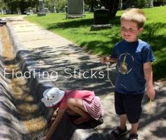 Floating Popsicle sticks at Mt. Olivet Cemetery
