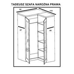 Tadeusz T-25 szafa narożna P/L Jarstol