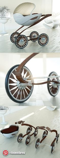 « WOODY » Buggy totaly made of natural based materials. This concept shows the use of bent wood for most of the parts. Beacause of the elastic qualities of the frame, springs are not neccessary.   #buggy #stroller #baby #concept #wood #elastic #madeingermany #design #render #keyshot #cinema4d #luxury #forbes #lifestyle #unique #urban #natural