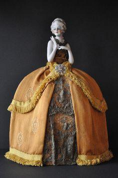 Lovely Large Porcelain Half Doll Demi Figurine Teepuppe | eBay