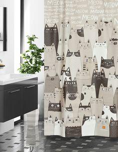 샤워커튼-캣캣캣