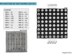Afbeeldingsresultaat voor led dot matrix 8x8 16