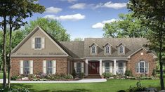 This Country House Plan includes 3 bedrooms / 2.5 baths in 2021 sq ft of living space.  Its open floorplan layout is flexible and is ideal for your growing family.  Best of all, its designed to be affordable to build and includes all of the most popular features you're looking for in your next home design.    #houseplan #dreamhome #HPG-20213 #HousePlanGallery #houseplans #homeplans Country Style House Plans, Country Style Homes, Southern Style, Corner Jetted Tub, Grand Kitchen, Gas Fireplace Logs, French Country Bedrooms, Inviting Home, Built In Cabinets