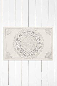"Grauer Teppich ""Elephant Medallion"", 2 x 3"