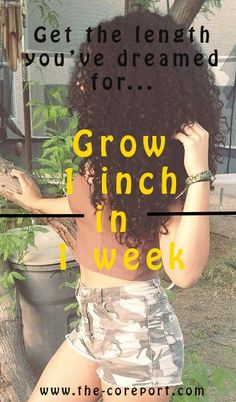Grow Your Hair 1 inch in 1 week!! Yes, it's true and the results are real! Slow hair growth and wanting to obtain longer hair will no longer be an issue!  #affiliate  #HairGrowth #HowToGrowLongHair #FastHairGrowth #HairTips