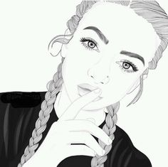 girl drawing black and white Tumblr Hipster, B&w Tumblr, Tumblr Girl Drawing, Tumblr Drawings, Girl Drawings, Cute Drawings Of Girls, Drawing Girls, Black And White Girl, Black And White Drawing