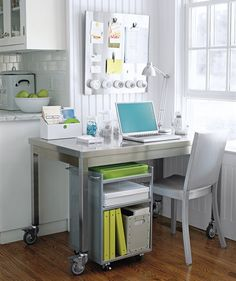 Create Your Own Corner (of The Kitchen) Office Using Furniture That Blends  Into The.