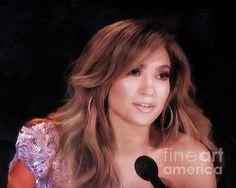 Jennifer Lopez American Idol Judge by TN Fairey American Idol Judges, Jennifer Lopez, Unique Art, Fine Art America, Diva, Texas, Face, Faces, Facial