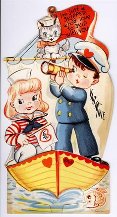 valentines greeting (1940's) sailor nautical