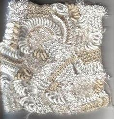 Freeform Stricken + Häkeln Kombination -  freeform knitt + crochet