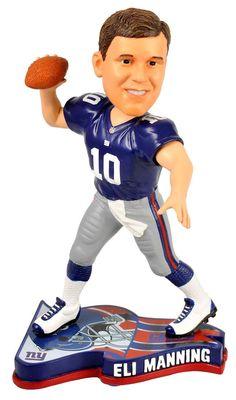 New York Giants Eli Manning Pennant Base Bobble Head Futebol Americano fa4cba9e7aa57