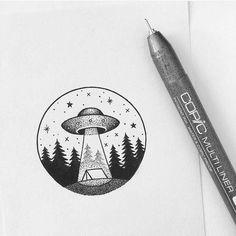 easy drawings pen draw alien pencil tattoos simple uploaded