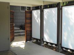Panels framed in redwood & recycled redwood horizontal fence - modern - landscape - san francisco - by Chris Raney Custom Home Development