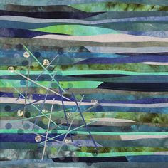 Elementen - Water Quilt Modernen, Patterns In Nature, Photo Galleries, Art Quilting, Collage, Quilts, Abstract, Gallery, Painting