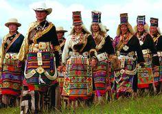 Tibetan Women in festival garments