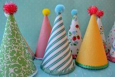 DIY Vintage Look Party Hats....Quirky & Cute!