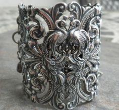 We who heart peacocks - peacock bracelet