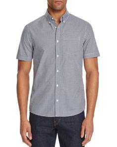 Michael Kors Kent Gingham Check Slim Fit Button-Down Shirt