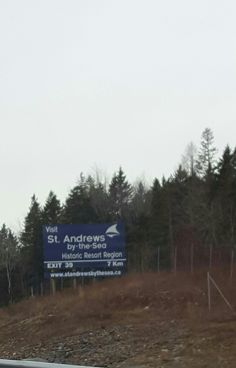 St Andrews road sign. NB Canada