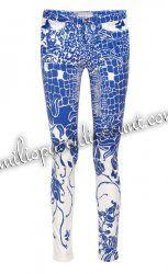 Discount EMILIO PUCCI Midrise Skinny Jeans Blue Printed